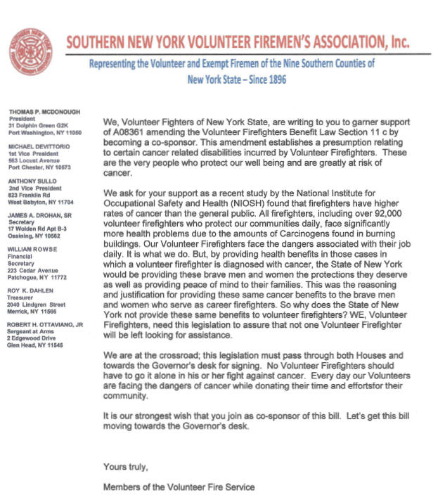 Southern New York Volunteer Fireman's Associatoin